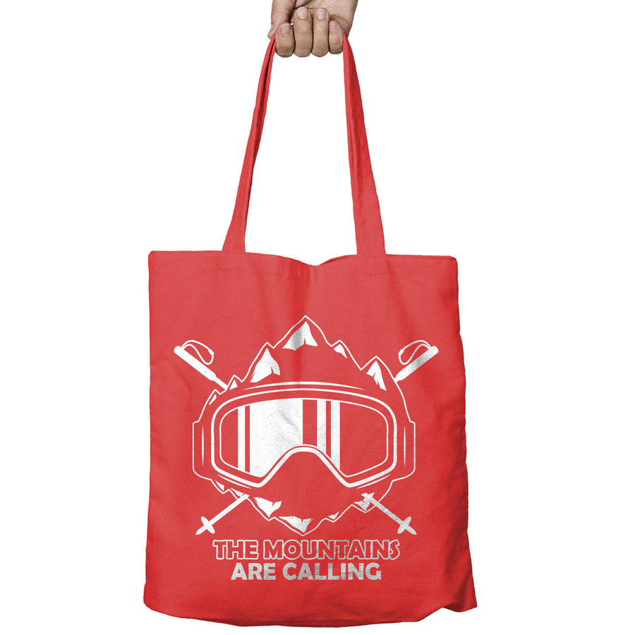 The Mountains are calling Snow Shopper Tote Bag Ski Snowboard Shopping Gift 496