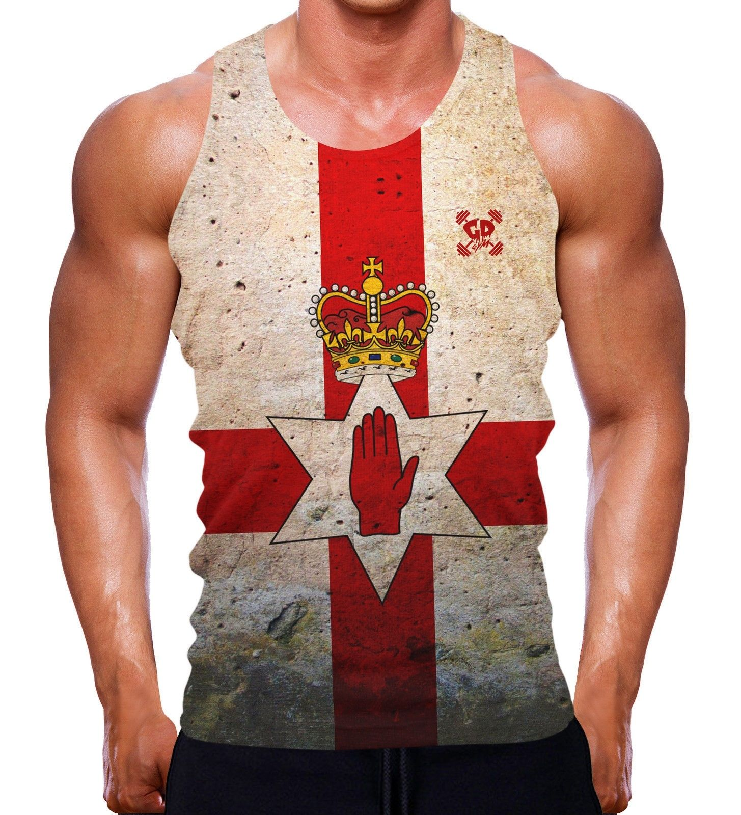 Ireland Flag Country Chest Tank Top Shirt