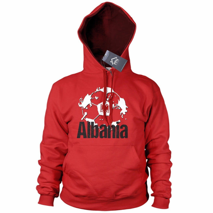 Albania Football Shirt Shqiponjat HOODIE Red Black Sweatshirt Albanian Mens B40