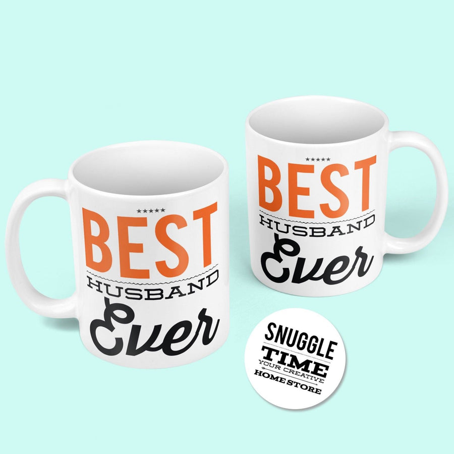 Best Husband Ever Mug - Huby Wifey Wedding Anniversary Cute Funny Gift Cup 854