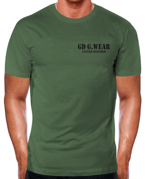 GD G.Wear Military Gym T Shirt Men Green Army Training Boot Camp Fitness Top Man