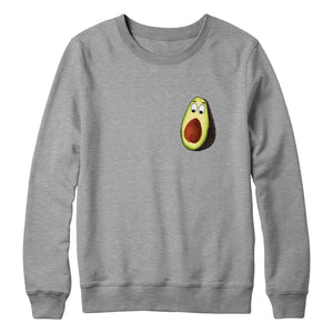 Funny Avocado Sweatshirt Pocket Print Mens Womens Kids Vegan Veganism Food L87