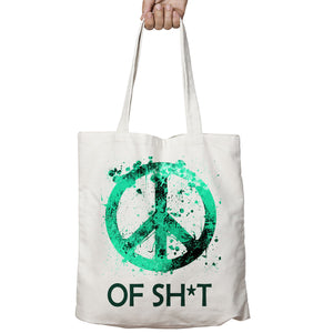 Peace Of Sh*t Funny Rude Geek War Food Shopper Tote Bag Shopping Gift 508