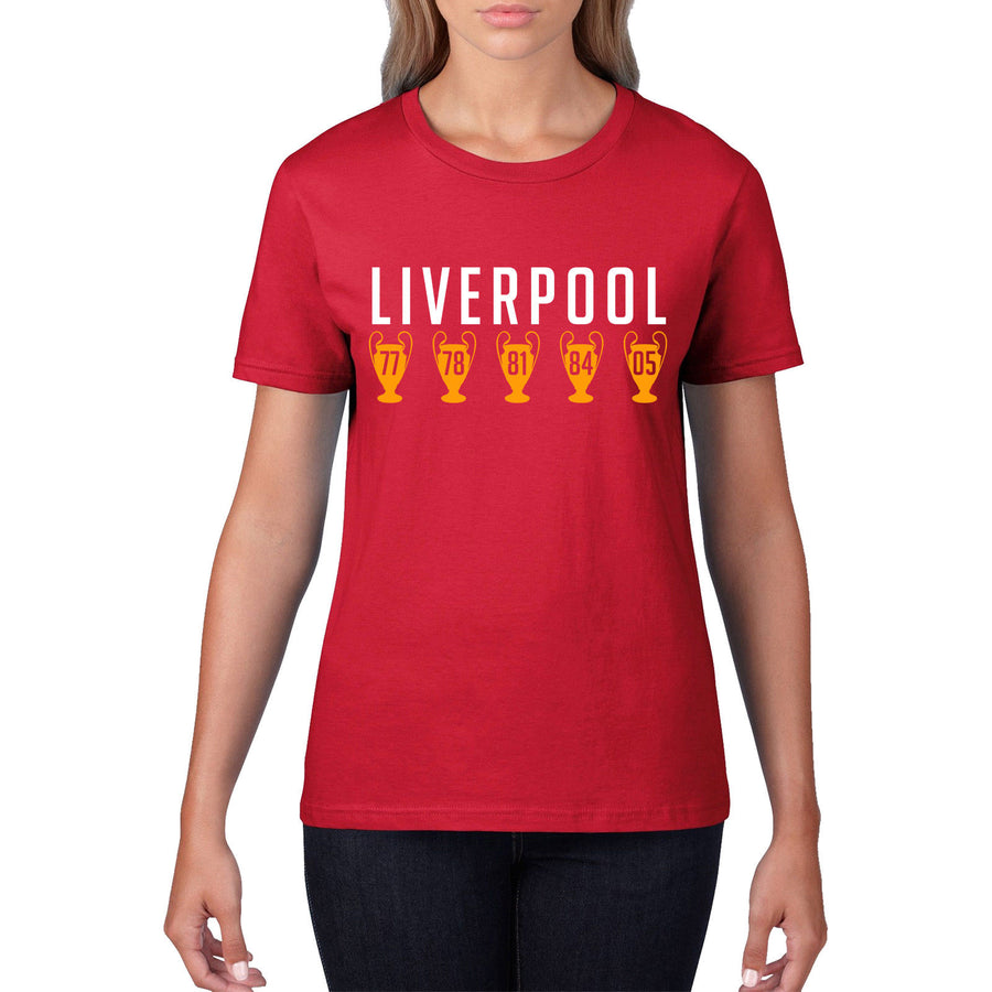 Liverpool Football T Shirt Champions League Never Walk Alone Anfield Top 901