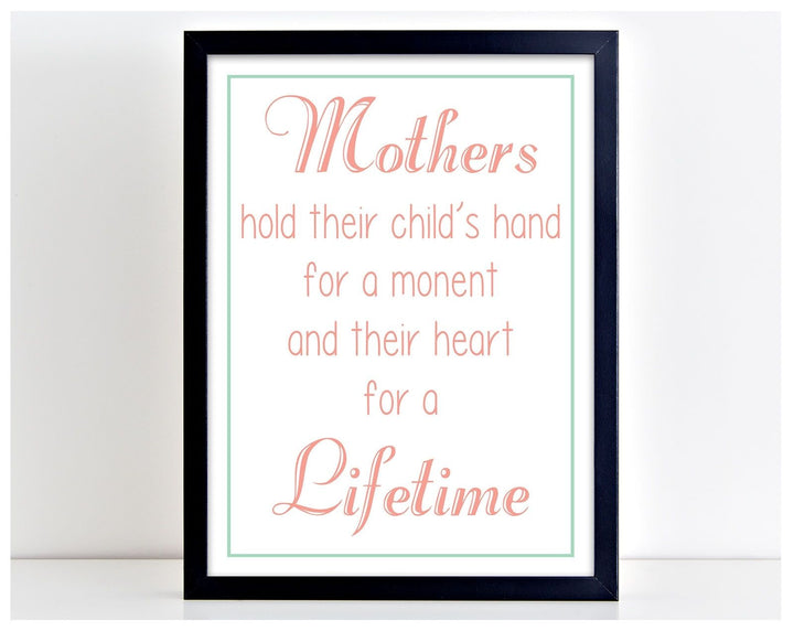 A Mothers Hand Family Love Child Mum Word Poster Print Typography Gift PP12
