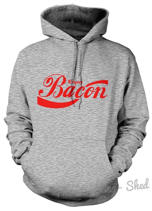ENJOY BACON HOODIE HOODY MEN WOMEN KID COOL CLASSIC PRINT FOOD LOVE