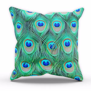 Peacock Feathers Cushion Wildlife Wallpaper Lounge Kitchen Pillow Home Decor C23