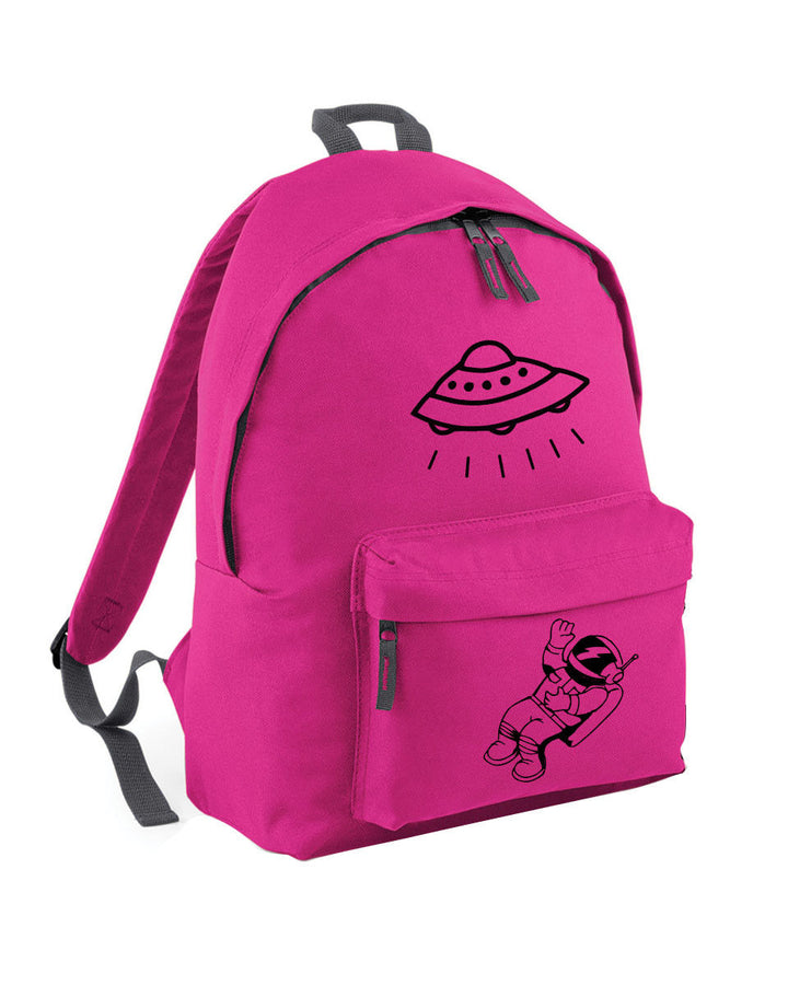 UFO Spaceman Astronaut Backpack School Bag for Girl Boy Hipster Skate Teenage 62
