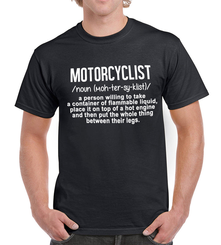 Motorcyclist A Person Who ... Funny Motorbike Engine T Shirt Mens Womens Fathers, Main Colour Black