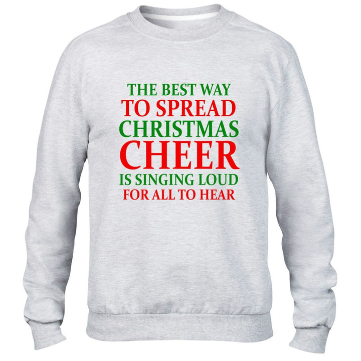 THE BEST WAY TO SPREAD CHRISTMAS CHEER SWEATER JUMPER UGLY ELF XMAS PRESENT GIFT