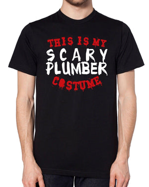 This Is My Scary Plumber Costume T Shirt Halloween Funny Cheap Easy Fancy Dress