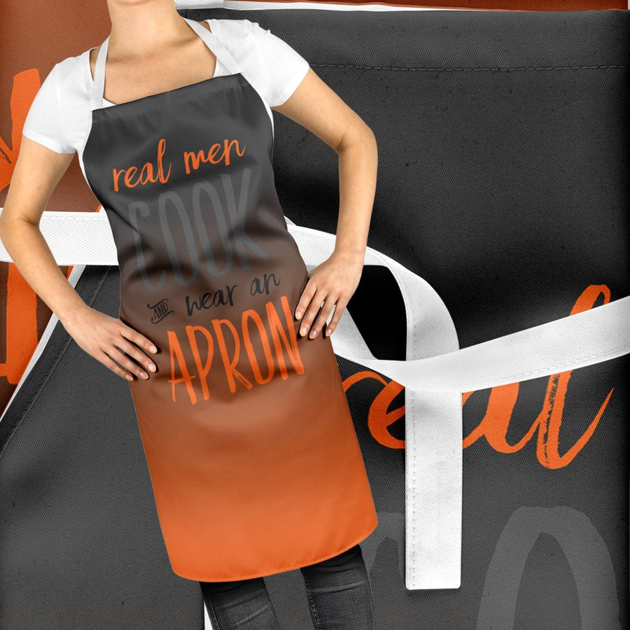 Real Men Wear Aprons Funny BBQ Cook Apron Fathers Day Gift Baking Grill Dad ST99