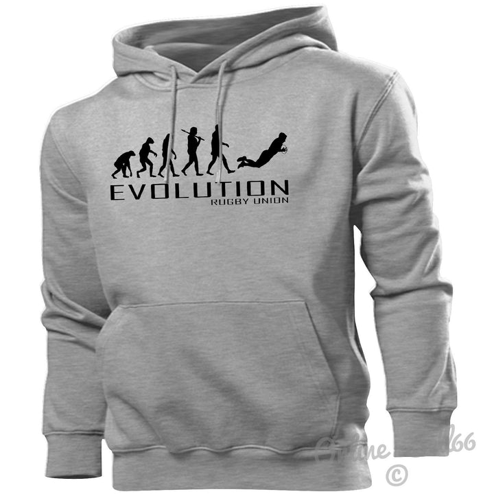 Rugby Union Evolution Hoodie Mens Womens Kids Hoody Kit Ball Boots Studs Boys, Main Colour Sport Grey