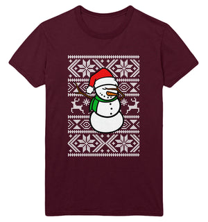 Snowman Dabbing T Shirt Christmas Dab Funny Top Men Women Kids Xmas Print JC21