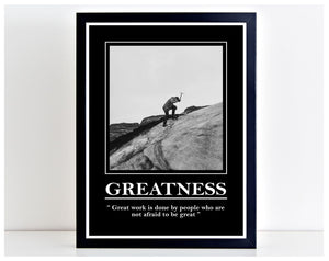 Greatness Great Work Office Motivation Print Poster Wall Art Inspire Home PP102
