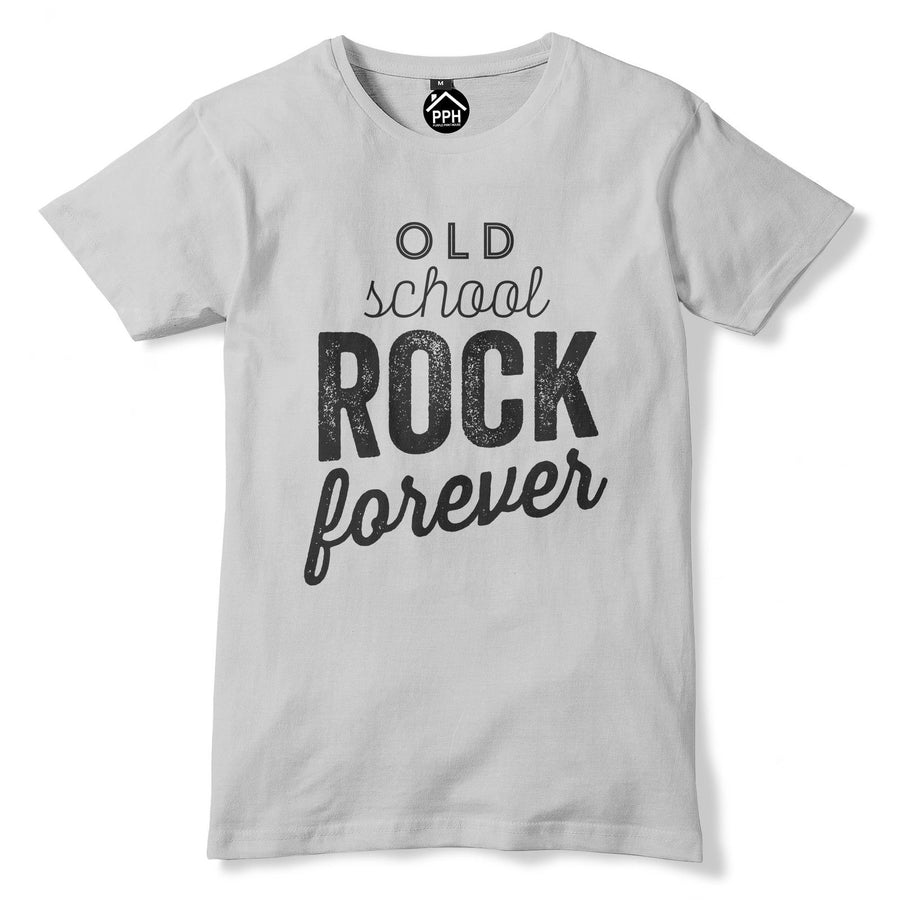 Old Skool Rock Forever T Shirt Music Heavy Metal Death Roll Emo Goth Punk 370