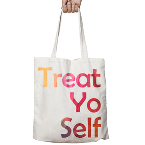 Treat Yourself Food Funny School Drink Wine Shopper Tote Bag Shopping Gift T28