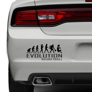 Evolution Of Basketball Car Bumper Sticker Sport Ball Bball Funny Vinyl Window