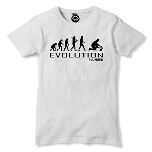 Evolution of PLUMBER Tshirt Mens Womens Funny Plumbing T Shirt Fathers Day PT13