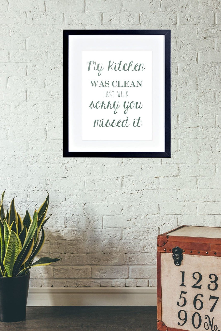 Funny Clean Kitchen Picture Messy Poster Framed + Mounted Food Picture Photo 204