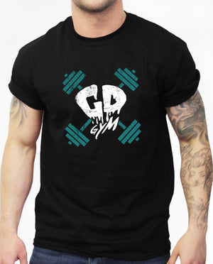 Get Down Gymwear Distressed Logo T Shirt Brand Training Fitness MMA Bodybuilding