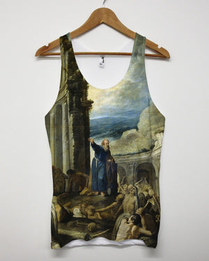 The Vision of Ezekiel All Over Print Vest Tank Top Singlet Religion Saint Men