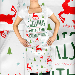 Your Family Name Personalised Kitchen Apron Funny Mum Festive Season Dinner ST55