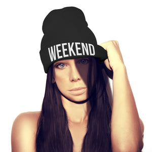 Weekend Beanie Hat Vibes Chill Outfit UNISEX hat cap Bobble hat swag hipster top
