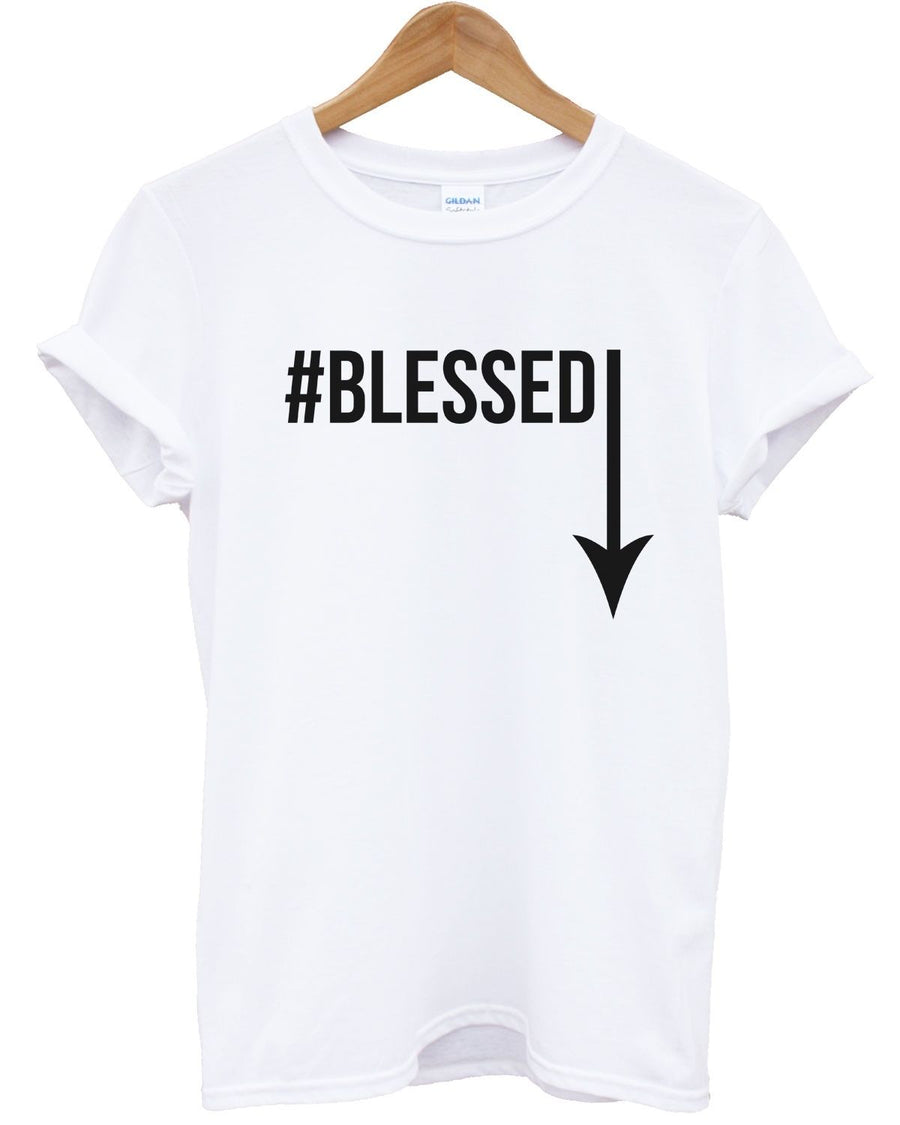 #Blessed T Shirt Funny Joke Present Gift Comedy Graphic Top Big Large