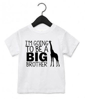 I'm Going To Be A big Brother TShirt Top Cute New Arrival Baby Announcement AS19