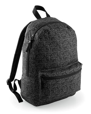 Geometric Backpack School Term Pattern Black Boys Mens Girls College Graphic Mad