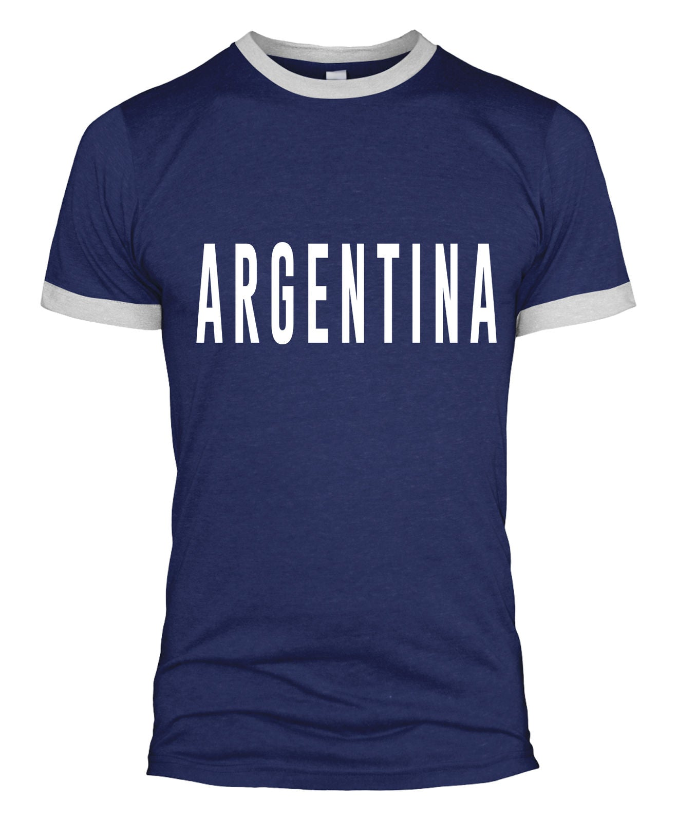 buy online 60749 359ed Argentina Text Retro Football T Shirt Kit Fan World Cup 2018 ...