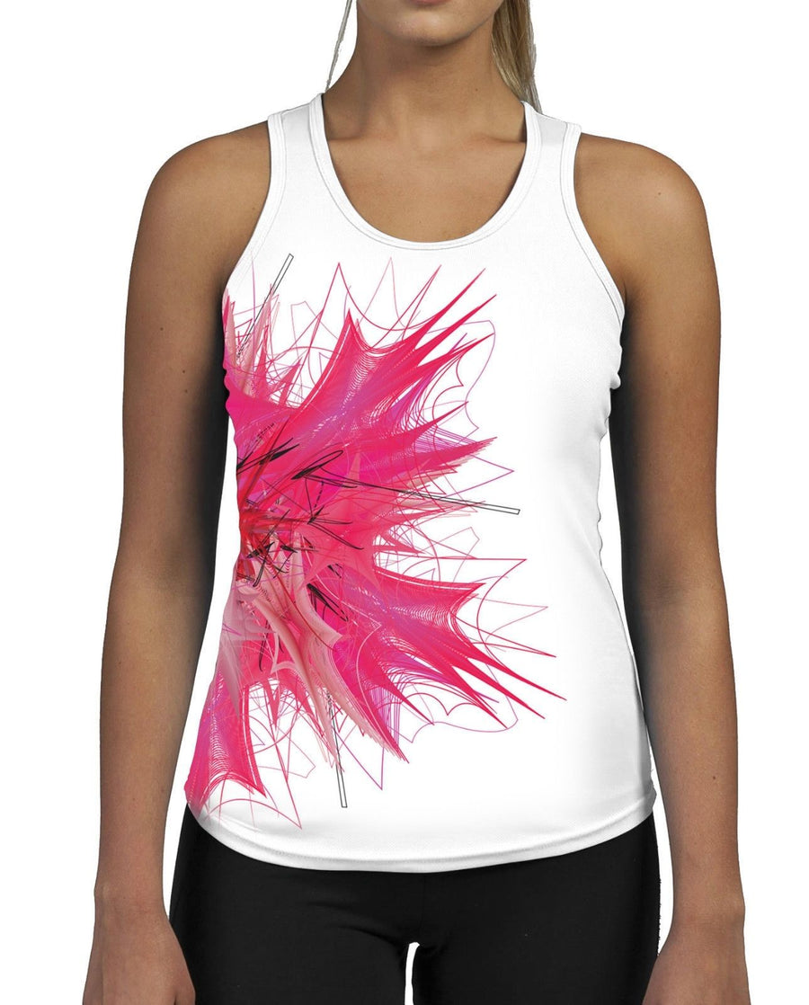 Pink Lily WOMENS GYM TANK Top Vest Fitness Workout Gym Gymwear Summer Pattern