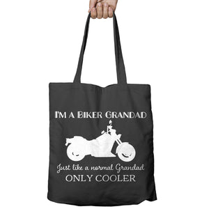 Normal Grandad Only Cooler Motorcycle Motorbike Shopper Tote Bag Shopping 519