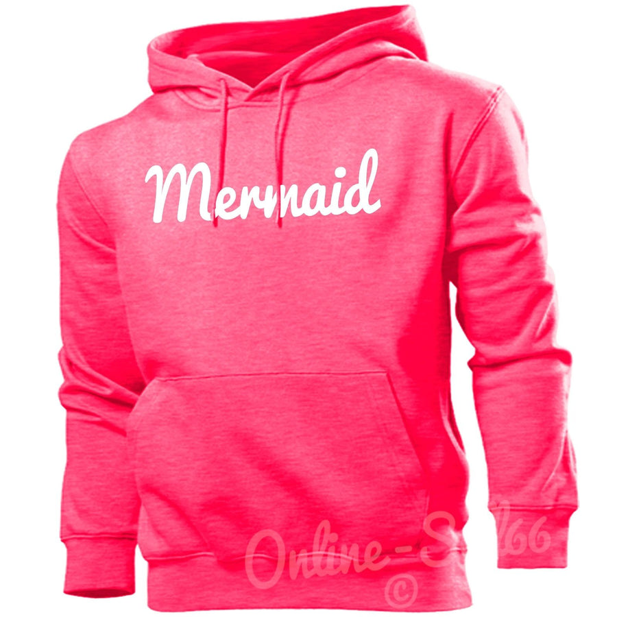 Mermaid Womens Funny Hipster Hoodie Sea Beach Holiday Hoody Top Swag, Main Colour Bright Pink
