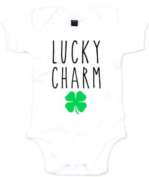 Lucky Charm Shamrock Baby Grow St Patricks Day Playsuit Vest Babies Outfit L197