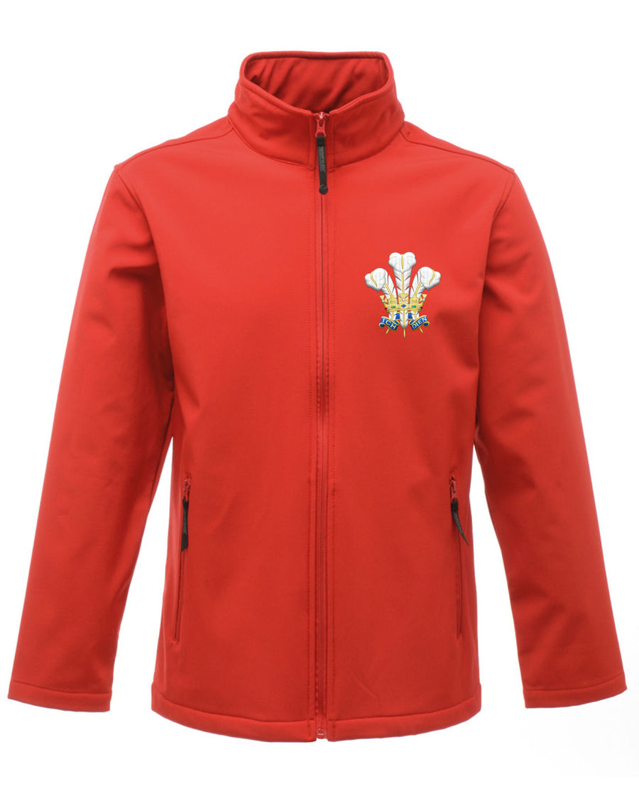 Wales Feathers Jacket Softshell Smart Supporter Clothing Welsh Rugby Football