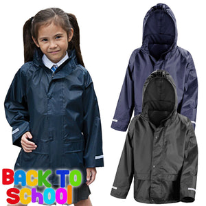 Result Core Junior Rain Jacket Boys Girls Kids School Coat Mac Uniform Wear New
