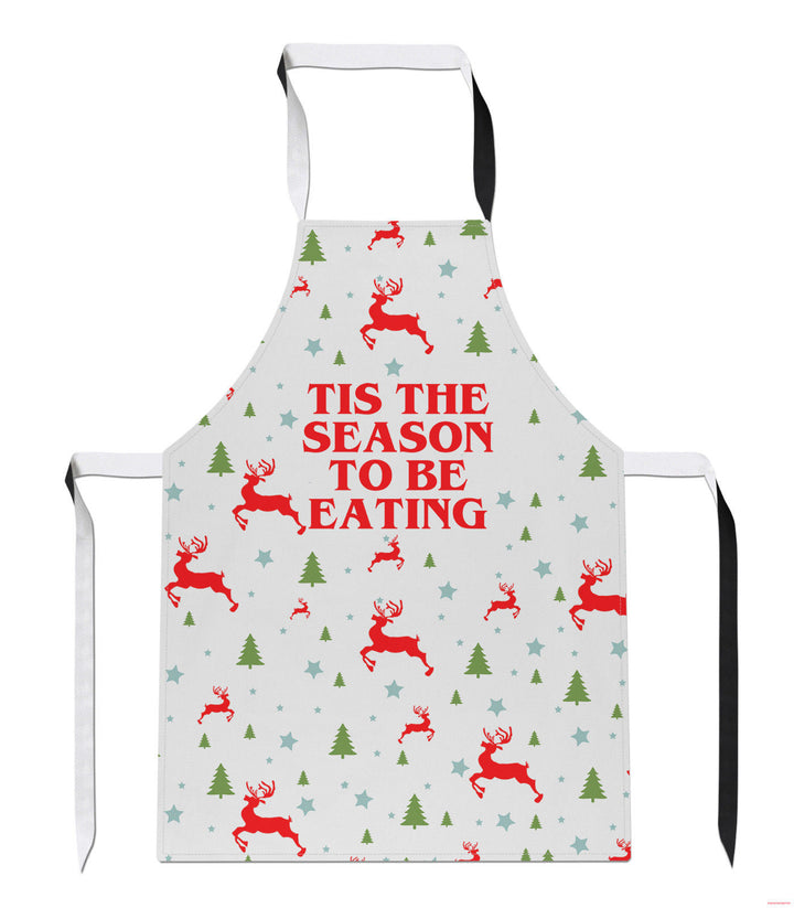 Tis the Season to be Eating Christmas Kitchen Apron Mum Funny Festive Santa A54