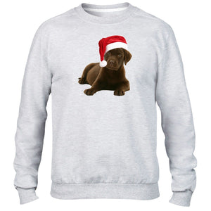 Labrador Christmas Hat Jumper Sweater Santa Dog Puppy Cute Kids Girls Present