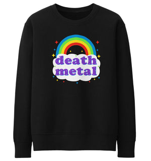 Death Metal Rainbow Sweater Sweatshirt Jumper Men Women Kids Funny Festival Gig