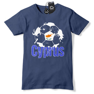 Cyprus Football T Shirt Mens Boys Tshirt Cypriot Training Gift Euros B40