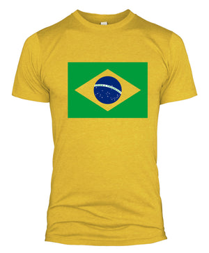 Brazil Flag T Shirt Football World Cup Russia 2018 Fan Basil Men Women Kid L254