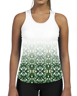 Palm Fade WOMENS GYM TANK Top Vest Fitness Workout Gym Gymwear Summer Pattern