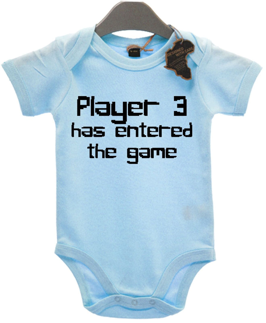 Player 3 Has Entered The Game Baby Grow Gamer Family Cute Funny Joke Gift EBG21