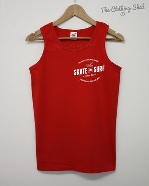 Skate And Surf Vest Brand Apparel Surfing Beach Waves Summer Mens Womens Indie