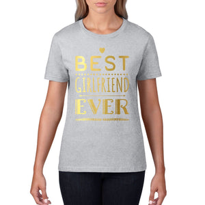 Best Girlfriend Ever Womens Valentines Day T Shirt Love Gift Wifey Hubby V3