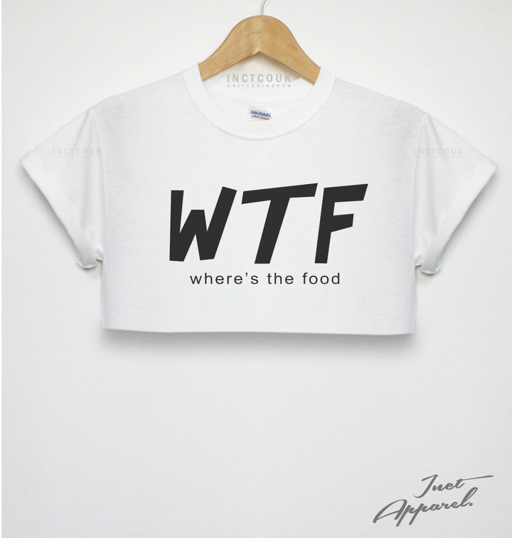 WTF WHERES THE FOOD CROP TOP GIRLS T SHIRT HIPSTER SWAG FRESH FASHION WOMENS