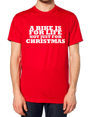 A Bike Is For Life Not Just For Christmas Boys Motorbike Bicycle Santa Gifts , Main Colour Red