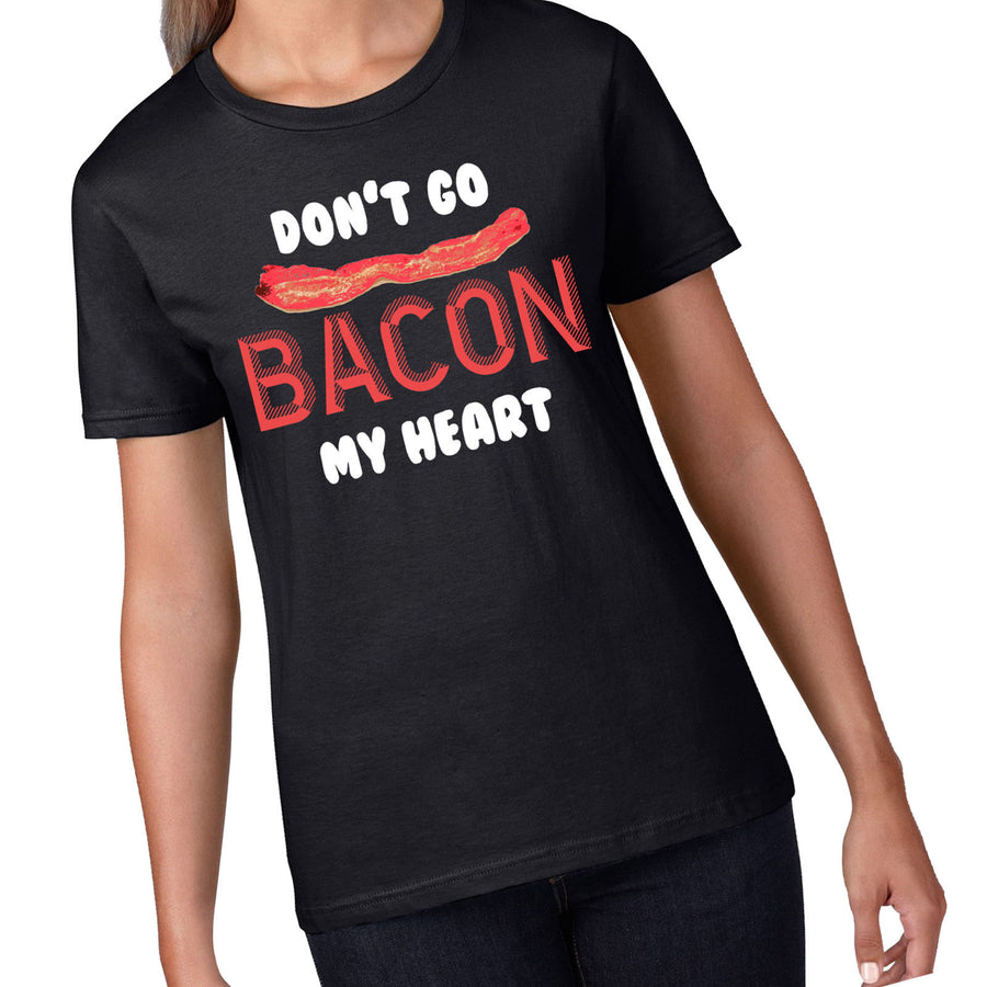 Bacon My Heart Matching Couples T Shirts BFF Best Friends Eggs Gift T-Shirt 857